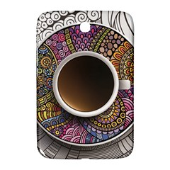 Ethnic Pattern Ornaments And Coffee Cups Vector Samsung Galaxy Note 8 0 N5100 Hardshell Case