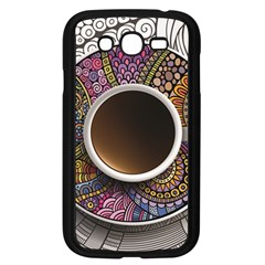 Ethnic Pattern Ornaments And Coffee Cups Vector Samsung Galaxy Grand Duos I9082 Case (black)