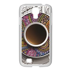Ethnic Pattern Ornaments And Coffee Cups Vector Samsung Galaxy S4 I9500/ I9505 Case (white)