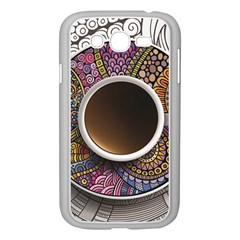 Ethnic Pattern Ornaments And Coffee Cups Vector Samsung Galaxy Grand Duos I9082 Case (white)