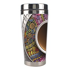 Ethnic Pattern Ornaments And Coffee Cups Vector Stainless Steel Travel Tumblers
