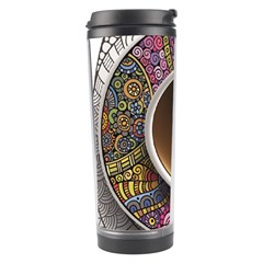 Ethnic Pattern Ornaments And Coffee Cups Vector Travel Tumbler