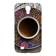 Ethnic Pattern Ornaments And Coffee Cups Vector Samsung Galaxy Mega 6 3  I9200 Hardshell Case