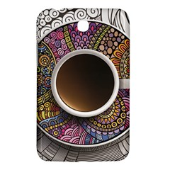Ethnic Pattern Ornaments And Coffee Cups Vector Samsung Galaxy Tab 3 (7 ) P3200 Hardshell Case