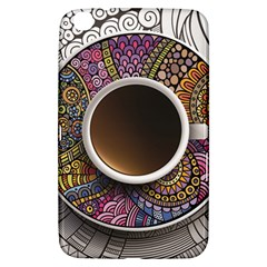 Ethnic Pattern Ornaments And Coffee Cups Vector Samsung Galaxy Tab 3 (8 ) T3100 Hardshell Case