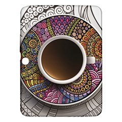 Ethnic Pattern Ornaments And Coffee Cups Vector Samsung Galaxy Tab 3 (10 1 ) P5200 Hardshell Case