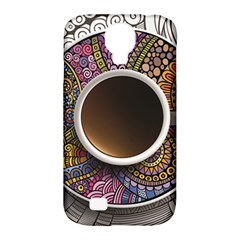 Ethnic Pattern Ornaments And Coffee Cups Vector Samsung Galaxy S4 Classic Hardshell Case (PC+Silicone)