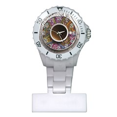 Ethnic Pattern Ornaments And Coffee Cups Vector Plastic Nurses Watch