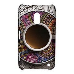 Ethnic Pattern Ornaments And Coffee Cups Vector Nokia Lumia 620
