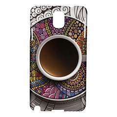Ethnic Pattern Ornaments And Coffee Cups Vector Samsung Galaxy Note 3 N9005 Hardshell Case