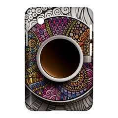 Ethnic Pattern Ornaments And Coffee Cups Vector Samsung Galaxy Tab 2 (7 ) P3100 Hardshell Case