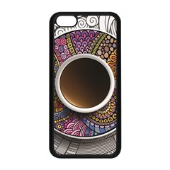 Ethnic Pattern Ornaments And Coffee Cups Vector Apple Iphone 5c Seamless Case (black)