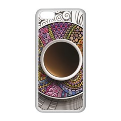 Ethnic Pattern Ornaments And Coffee Cups Vector Apple iPhone 5C Seamless Case (White)