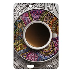 Ethnic Pattern Ornaments And Coffee Cups Vector Amazon Kindle Fire Hd (2013) Hardshell Case