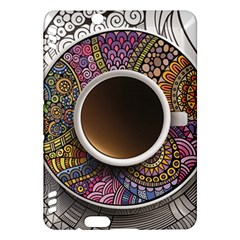 Ethnic Pattern Ornaments And Coffee Cups Vector Kindle Fire HDX Hardshell Case