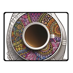 Ethnic Pattern Ornaments And Coffee Cups Vector Double Sided Fleece Blanket (small)