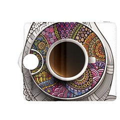 Ethnic Pattern Ornaments And Coffee Cups Vector Kindle Fire Hdx 8 9  Flip 360 Case
