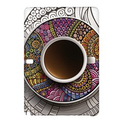 Ethnic Pattern Ornaments And Coffee Cups Vector Samsung Galaxy Tab Pro 12 2 Hardshell Case