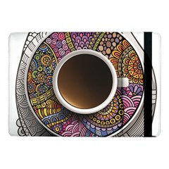 Ethnic Pattern Ornaments And Coffee Cups Vector Samsung Galaxy Tab Pro 10 1  Flip Case