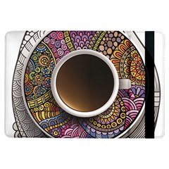 Ethnic Pattern Ornaments And Coffee Cups Vector Ipad Air Flip