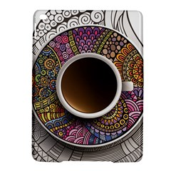 Ethnic Pattern Ornaments And Coffee Cups Vector Ipad Air 2 Hardshell Cases