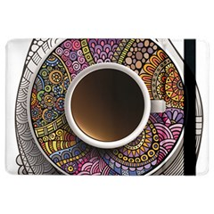 Ethnic Pattern Ornaments And Coffee Cups Vector iPad Air 2 Flip