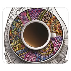 Ethnic Pattern Ornaments And Coffee Cups Vector Double Sided Flano Blanket (small)
