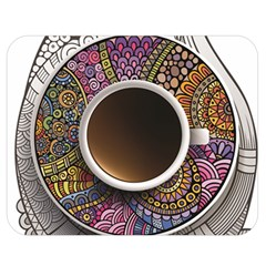 Ethnic Pattern Ornaments And Coffee Cups Vector Double Sided Flano Blanket (medium)