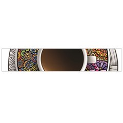 Ethnic Pattern Ornaments And Coffee Cups Vector Flano Scarf (Large)