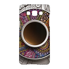 Ethnic Pattern Ornaments And Coffee Cups Vector Samsung Galaxy A5 Hardshell Case