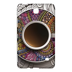Ethnic Pattern Ornaments And Coffee Cups Vector Samsung Galaxy Tab 4 (7 ) Hardshell Case