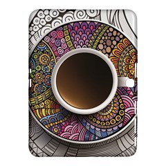 Ethnic Pattern Ornaments And Coffee Cups Vector Samsung Galaxy Tab 4 (10 1 ) Hardshell Case