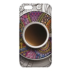 Ethnic Pattern Ornaments And Coffee Cups Vector iPhone 6/6S TPU Case