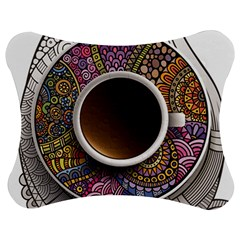 Ethnic Pattern Ornaments And Coffee Cups Vector Jigsaw Puzzle Photo Stand (Bow)