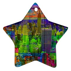 New York City Skyline Ornament (star)