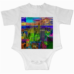 New York City Skyline Infant Creepers