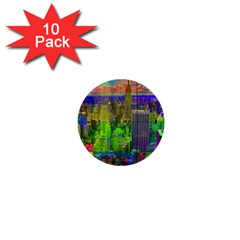 New York City Skyline 1  Mini Buttons (10 pack)