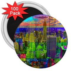 New York City Skyline 3  Magnets (100 Pack)