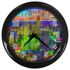 New York City Skyline Wall Clocks (black)