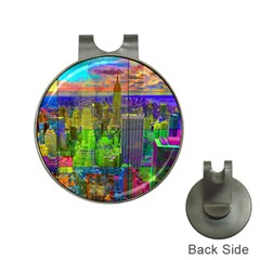 New York City Skyline Hat Clips With Golf Markers