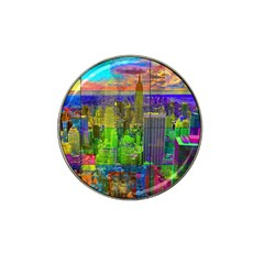 New York City Skyline Hat Clip Ball Marker (4 Pack)