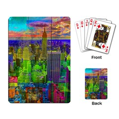 New York City Skyline Playing Card