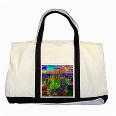New York City Skyline Two Tone Tote Bag