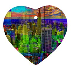 New York City Skyline Heart Ornament (two Sides)