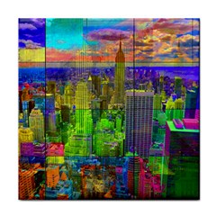 New York City Skyline Face Towel