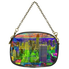 New York City Skyline Chain Purses (one Side)