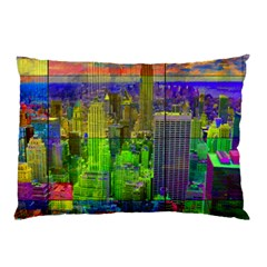 New York City Skyline Pillow Case