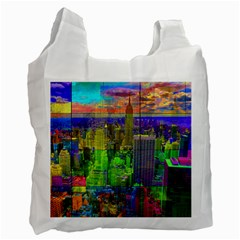 New York City Skyline Recycle Bag (one Side)