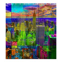 New York City Skyline Shower Curtain 66  x 72  (Large)