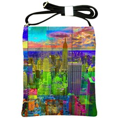 New York City Skyline Shoulder Sling Bags